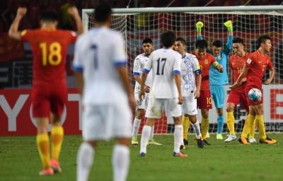 出线希望仍在!郜林点球破门助国足主场获胜