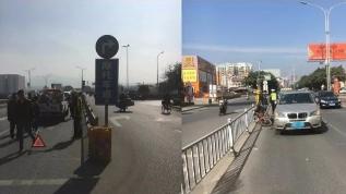 梅县区交警提醒:外卖小哥 送餐路上莫违章