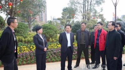 朱国城、钟秀堂率队检查市容市貌和亮化工作