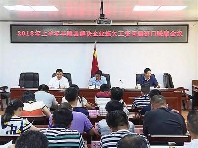 丰顺县召开2018年上半年解决企业拖欠工资问题部门联席会议