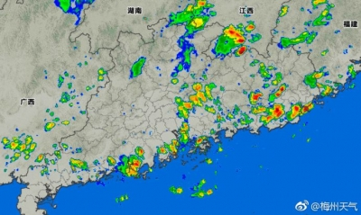 收衫啦!未来3小时梅城将有雷雨大风