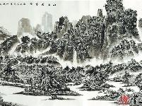 赖丽芳客家风情山水画作简析:山水逸趣与乡土情怀