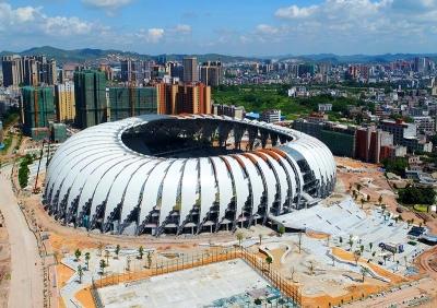 """五华""""天使之翼""""体育场预计10月交付使用,来看壮观图"""