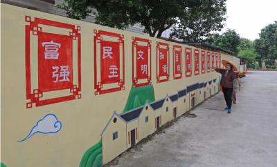茶座丨让残旧墙变文化墙一举多得