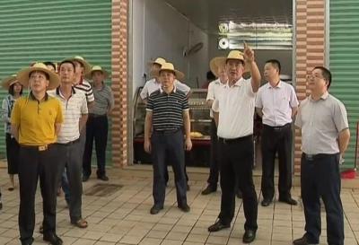 """钟光灵率队深入梅县区各地调研""""创文""""""""巩卫""""工作"""
