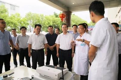 曾永祥、廖茂忠率队专题督导创建省卫生强县工作