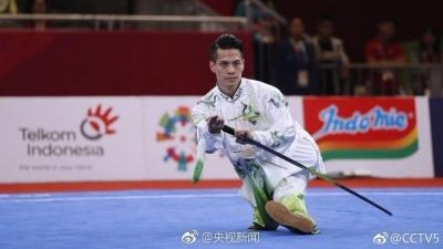 亚运会男子太极拳太极剑决赛 中国选手陈洲理摘金