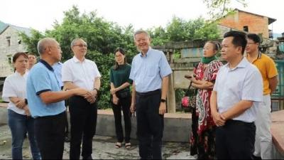中山大学党委书记陈春声一行到大埔参观考察