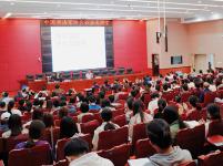 书法公益大讲堂在嘉应学院开讲,书法名家与师生互动