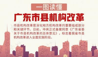 重磅!广东市县机构改革进入全面实施阶段,一图读懂改革要点