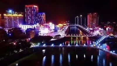 霓虹闪烁,流光溢彩!丰顺县城夜景别样美