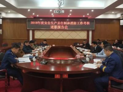 市考核组充分肯定丰顺县2018年度安全生产和消防工作