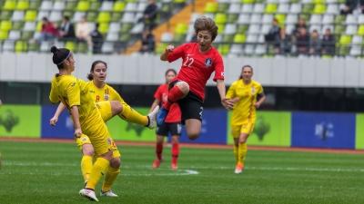 梅州五华女足四国赛首战打响!韩国3:0力克罗马尼亚