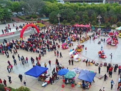 敲金锣 填成语 展球技…大年初一,蕉岭新春大游园活动引千人上阵