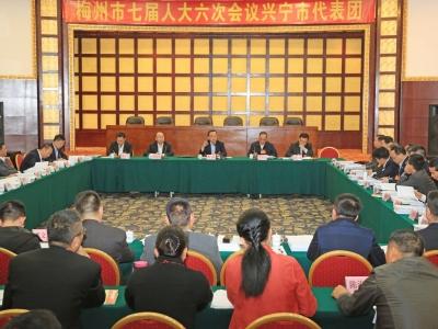 陈敏参加兴宁代表团分组讨论:抓产业聚人才 重振发展雄风