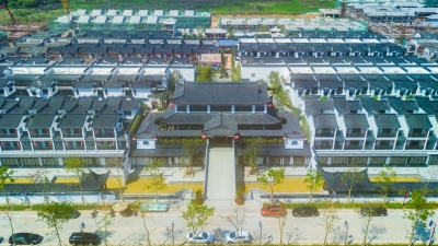 青砖白墙,有木有乌镇的感觉?兴宁玖崇湖温泉小镇雏形初现