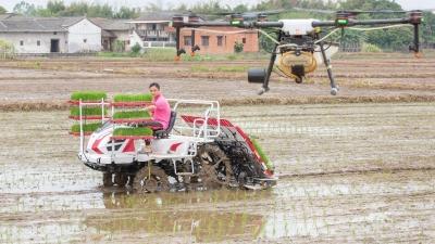 """又到一年春种时!来看植保无人机低空""""农作"""""""