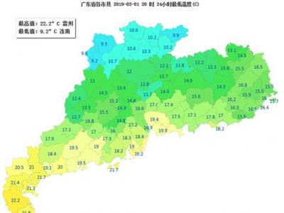 今明天气和暖,2日傍晚到3日冷空气携雨入粤