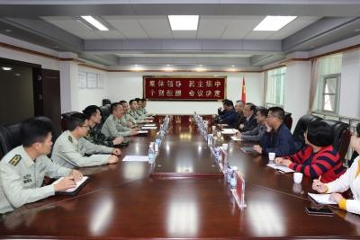 梅州市退役军人事务局到武警梅州支队走访调研