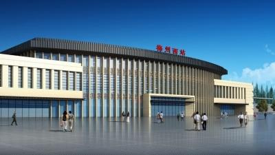 激动skr!梅汕高铁梅州西站主体工程已完工,它长这个样子…