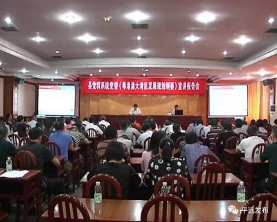 平远县直单位干部职工聆听《粤港澳大湾区发展规划纲要》宣讲