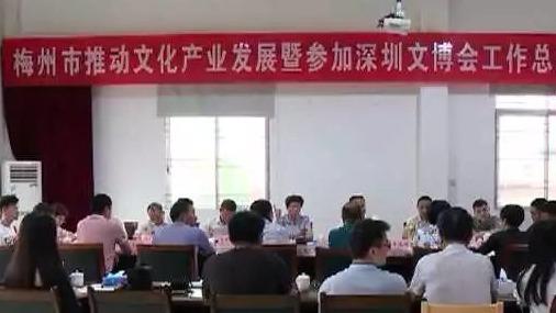 全市推动文化产业发展暨参加深圳文博会工作总结会在大埔召开