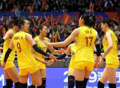 中国女排3比0横扫比利时,澳门站获两连胜