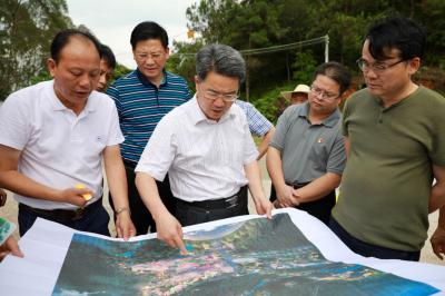 朱少辉率队调研五华客天下文化旅游产业园项目