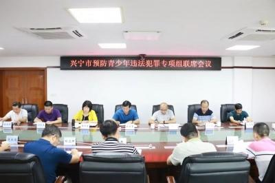护航成长!兴宁市召开预防青少年违法犯罪专项组联席会议
