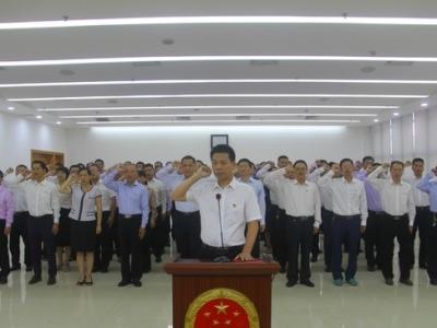 兴宁市政府举行任命国家工作人员宪法宣誓仪式