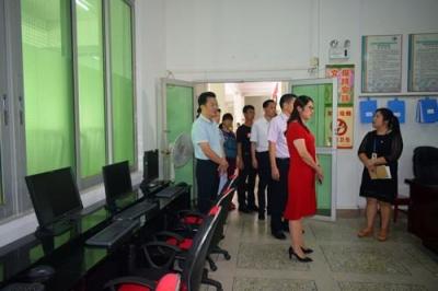 广东省文化和旅游厅赵红副厅长一行到蕉岭县图书馆调研