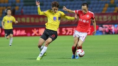 中甲联赛第20轮:梅县铁汉1:0上海申鑫  终结9轮不胜