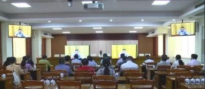 大埔收听收看省部署实施职业技能提升行动电视电话会议