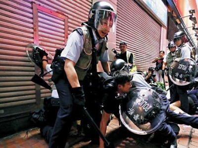 打响头炮!元朗区通过议案,支持香港警方依法止暴制乱