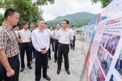 张硕辅率广州市党政代表团来梅考察对口帮扶和精准脱贫工作,陈敏张爱军等参加
