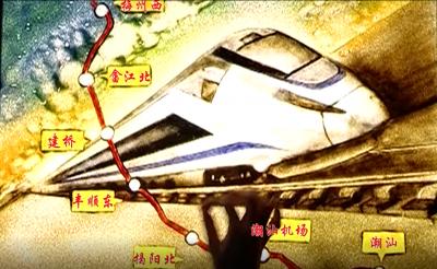 梅州V视丨沙画中的梅汕高铁,不要太美!