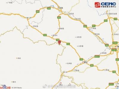 广西百色市靖西市发生4.3级地震,震源深度10千米