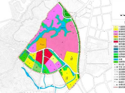 紫琳学院和国际声谷片区规划公示,总用地面积280.94公顷!