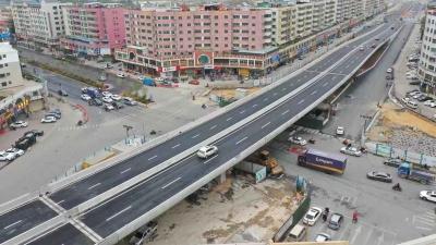 梅州城区首座高架桥!中环路三角跨线桥正式通车