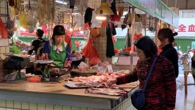 """春节梅城猪肉市场供应稳定,但""""二师兄""""价格还是贵!"""