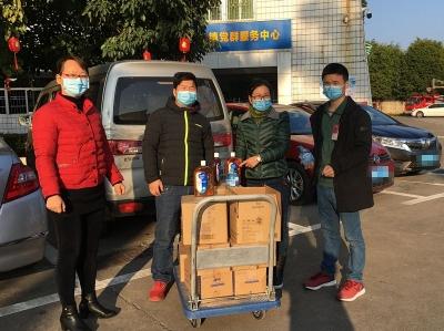 党建聚力,梅江区三角镇东区商圈企业踊跃捐赠防疫物资