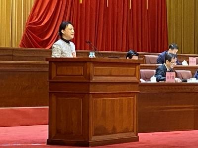 张晨在省政协十二届三次会议登台发言:建议完善海归人才服务管理助力高质量发展