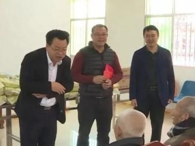 廖茂忠率队开展春节前慰问活动