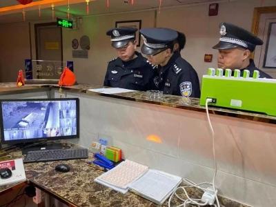 蕉岭公安开展春节前统一清查打击行动