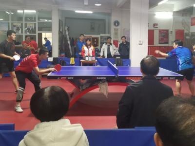 梅州市迎新春乒球团体赛收拍,超华队夺冠!