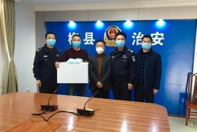 """坚决打赢疫情防控阻击战!梅县区热心企业、群众捐赠口罩助力公安战""""疫"""""""