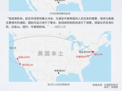国航调整中美航线:保留北京至纽约等城市航线