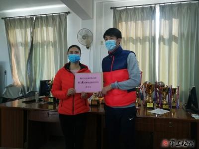 点赞!梅江区足球形象大使曾超、刘盛向区慈善会捐款2万元