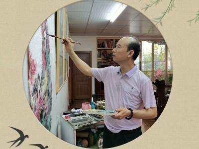 注重师法自然 丰富创作题材!梅州日报访青年画家张千凌