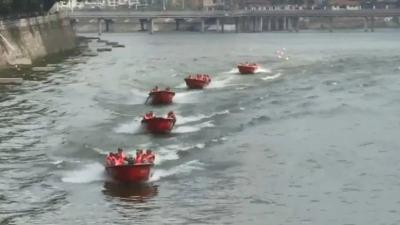 强训练,保平安!丰顺这群民兵轻舟分队水上演练场面震撼